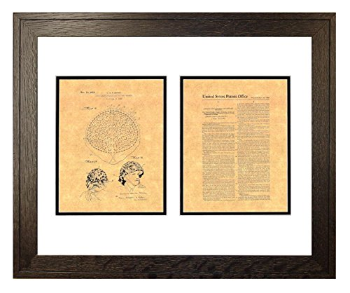 "Camouflaging Covering For Military Helmets Patent Art Print in a Rustic Oak Wood Frame (16"" x 20"")"
