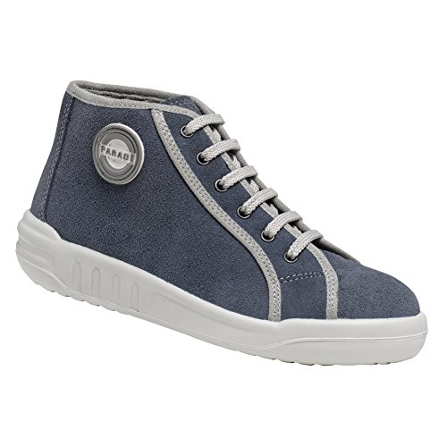 Scarpe antinfortunistiche donna basket alte in pelle, Made in France., Blu (blu), Fr 41