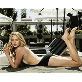 ブロマイド写真★エステラ・ウォーレン/水着でプールサイドに寝そべる