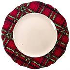 Plaid Dinner Plate