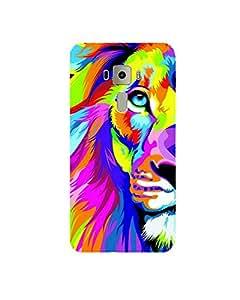 GripIt Rainbow Lion Printed Case for Asus Zenfone 3 Deluxe