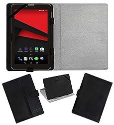 Acm Leather Flip Flap Case For Revolt Tx1 Tablet Cover Magnetic Closure Stand Black