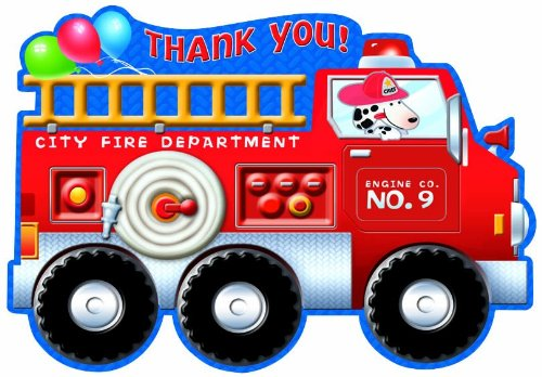 Fire Engine Fun Thank You Notes 8ct