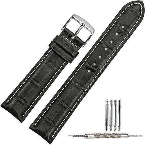 tstrap-genuine-leather-watch-strap-20mm-black-watch-band-bracele-replacement-w-watch-clasp-buckle