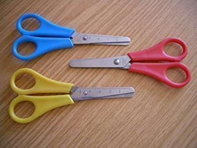 2x Childrens Kids Safety Scissors 5 inch 130mm