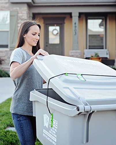 Trash Buddy - Dog Proof Trash Can Lid - The Easy-Install Solution for Securing Your Outdoor Garbage Can Lid - Still Empties at Pickup Time (Garbage Can Lock compare prices)