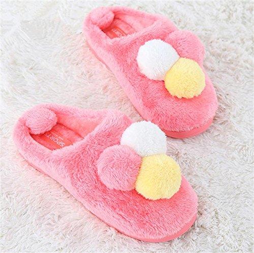 ZHLONG Pantoufles de coton casual dames chausson thermique