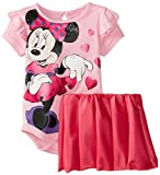 Disney Baby Baby-Girls Newborn Pink Minnie Mouse 2 Piece Skirt Set
