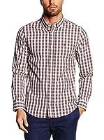 Valecuatro Camisa Hombre (Granate / Blanco)