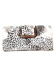 Bagaholics Wallet Clutch Ladies Money Purse With Card Slots For Women (White)