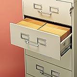 Tennsco - Six-Drawer Multimedia Cabinet for 6 x 9 Cards 21-1/4w x 52h Putty CF-669PY (DMi EA