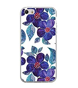 Printvisa Blue Floral Pattern Back Case Cover for Apple iPhone 5::Apple iPhone 5S