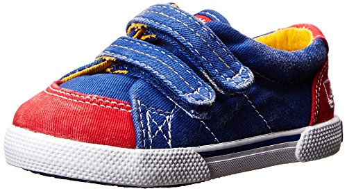 Sperry Top-Sider Halyard Crib H And L Boat Shoe (Infant/Toddler),Blue/Red,4 M Us Toddler