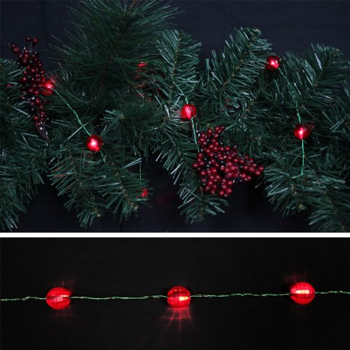 valentine day garlands - Starlite Creations Battery Operated LED Metallic Jewel Garland, 9