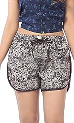 Abony Women's Brown Cotton Short (Size:M)