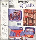 Simplicity 5413 Craft Pattern, Storage Containers, Pin Cusions By Sunrise Designs