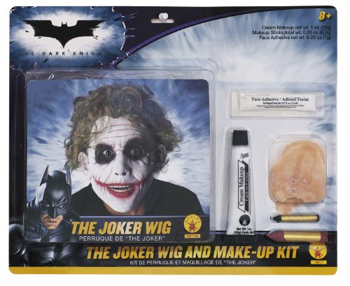 Batman Deluxe Joker Wig And Make Up Kit, Black, One Size - 1