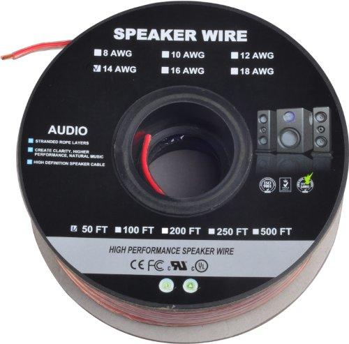 C&E Cne63164 50-Feet 14Awg Enhanced Loud Speaker Cable