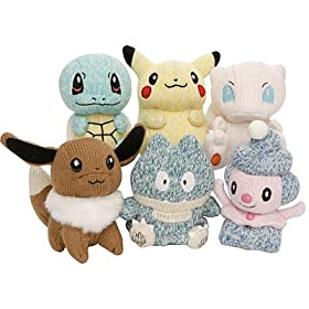 Pokemon Plush Ornaments at Amazon