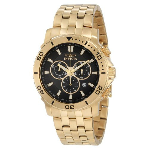 Invicta Men's 6793 Pro Diver Collection Chronograph 18k Gold-Plated Stainless Steel Watch
