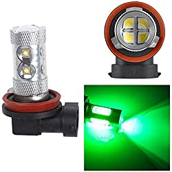 See 2Pcs HB4 60W 9005 CREE LED Fog Turn Tail Head Car Light Bulb Lamp Super Green Details