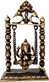 Two Moustaches Brass Ganesha on Jhoola Showpiece