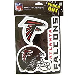 Atlanta Falcons NFL Multi Magnet Sheet 3 Magnets