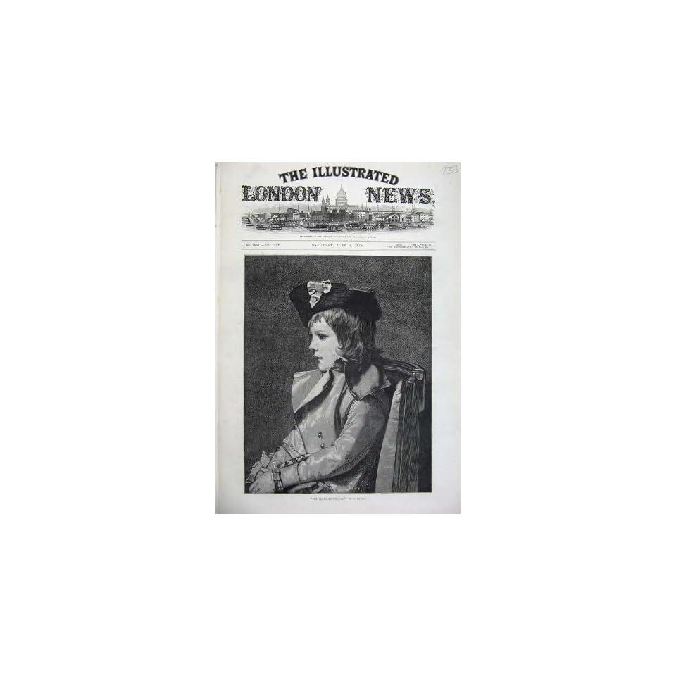 1878 Fine Art Portrait Young Republican Little Girl