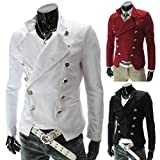TM Mens Stylish cool fashion Double breasted slim fit Suit Blazer Jackets Outerwear