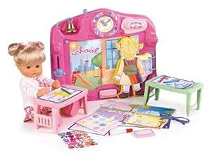 Famosa Nenuco Escuela con un muñeco - Set de escuela de juguete para muñecos Nenuco con maletín, accesorios y 1 muñeco