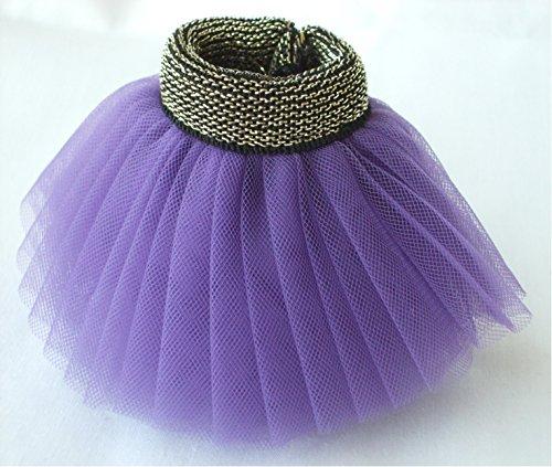 Blythe doll for fluffy tulle skirt Tutu select color (purple)