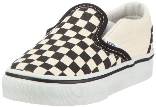 Vans Classic Slip-On VEX8BWW, Sneaker, Unisex Bambino, Blanco (black and white checker/white), 20