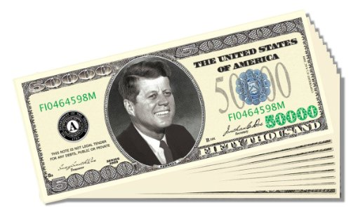 Poker Night Novelty $50,000 Bill - 25 Count with Bonus Christopher Columbus Bill - 1