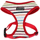 PUPPIA Authentic Watercolor Harness-A for Pets, Medium, Red
