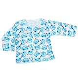 Baby Bucket Full Sleeve Front Open Printed Jabla New Born (Blue)