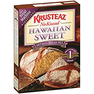 Krusteaz Hawaiian Sweet Bread Mix, 16-Ounce Boxes (Pack of 12)