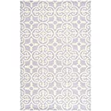 Safavieh Cambridge Collection CAM133C Handmade Lavender and Ivory Wool Area Rug, 5 feet by 8 feet (5' x 8')