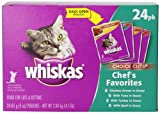Whiskas Choice Cuts Chefs Favorites Variety 24-Count Pack, 4.5-Pound