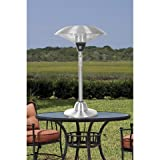 Fire Sense Stainless Steel Table Top Round Halogen Patio Heater