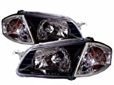 Kipoint Headlights For Mazda Protege 323 BJ Sedan/Wagon 1999-2001-Crystal Clear LHD