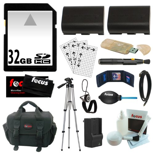 Essential Accessory Kit for the Canon DSLR EOS 5D, EOS 60D, EOS 6D, EOS 7D + 32GB SDHC C10 + 2 Replacement LP-E6 (2000 Mah) Battery Packs + Rapid AC/ DC Charger + USB 2.0 Card Reader + Mini HDMI Cable + Full Size 50-inch Tripod + Camera Case + Additional Accessories