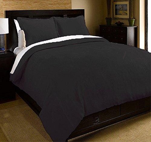 microfiber duvet cover mini set anthracite black full queen home garden linens bedding bedding. Black Bedroom Furniture Sets. Home Design Ideas