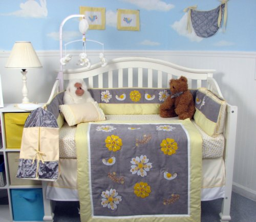 Soho Forever Blossoms Baby Crib Nursery Bedding Set 13 Pcs Included Diaper Bag With Changing Pad & Bottle Case ** Thanksgiving Special ! ** front-979560