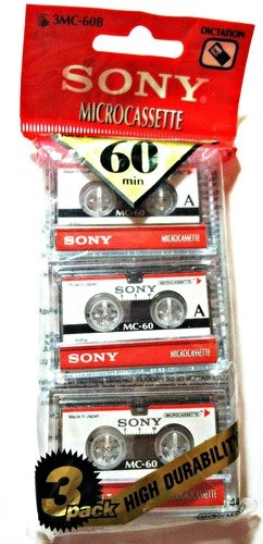Review Of Sony 3MC-60B Microcassette - 3 Pack
