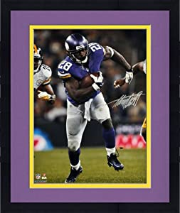 Framed Adrian Peterson Minnesota Vikings Autographed 16