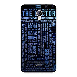 Blue Doc Angel Back Case Cover for Micromax Unite 2 A106