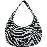 FASH Zebra Print Large Everyday Slouchy Hobo Shoulder Bag