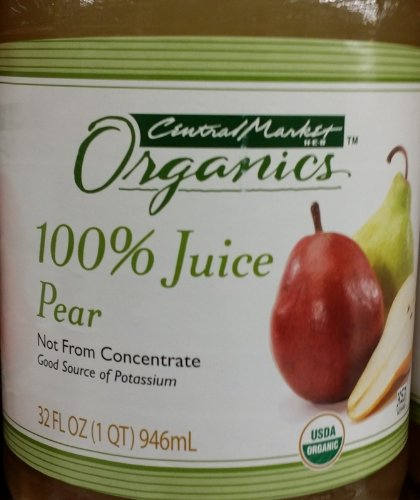 Central Market Organics 100% Pear Juice 32 Oz (Pack of 2) (Pear Juice Organic compare prices)