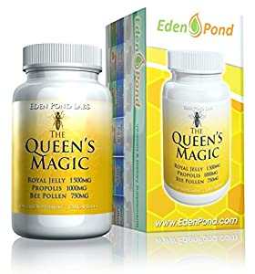 Eden Pond Queens Magic Bee Pollen Capsules 120 Count by Eden Pond