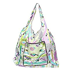 Easyhome High Strength Reusable Shopping Bag Fashion Style Tote Bag in Multicolor - Set of 3 pcs
